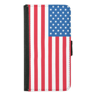 USA Flag stars and stripes Samsung Galaxy S5 Wallet Case