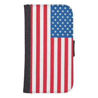 USA Flag stars and stripes Samsung S4 Wallet Case