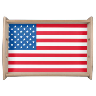 USA Flag stars and stripes Serving Tray