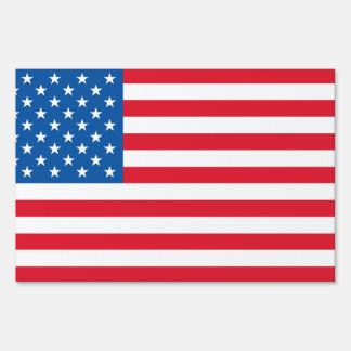 USA Flag stars and stripes Sign
