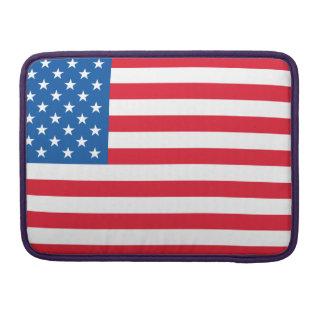 USA Flag stars and stripes Sleeve For MacBooks