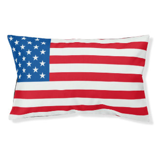 USA Flag stars and stripes Small Dog Bed
