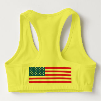 USA Flag stars and stripes Sports Bra