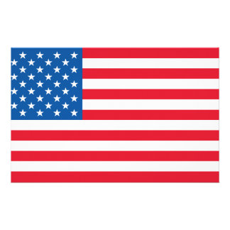 USA Flag stars and stripes Stationery