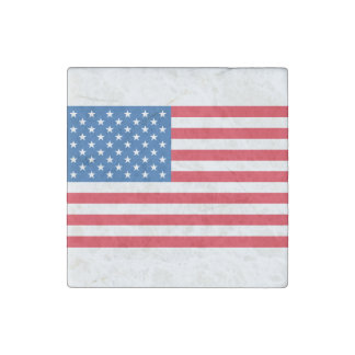 USA Flag stars and stripes Stone Magnets