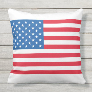 USA Flag stars and stripes Throw Pillow
