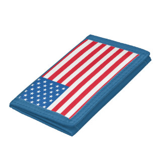 USA Flag stars and stripes Trifold Wallet