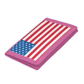 USA Flag stars and stripes Trifold Wallets