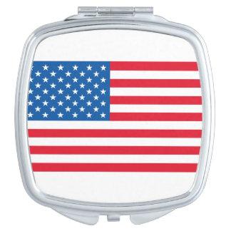 USA Flag stars and stripes Vanity Mirror