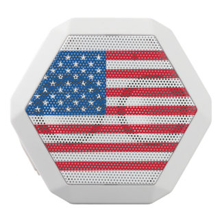 USA Flag stars and stripes White Bluetooth Speaker