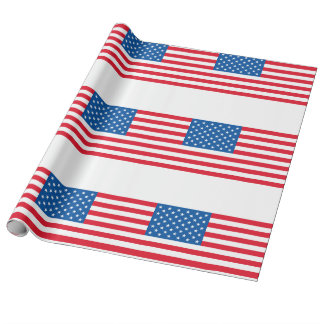 USA Flag stars and stripes Wrapping Paper