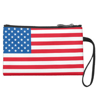 USA Flag stars and stripes Wristlet Clutches