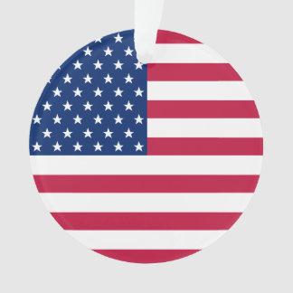 USA Flag Stars Stripes America Patriotic Christmas Ornament
