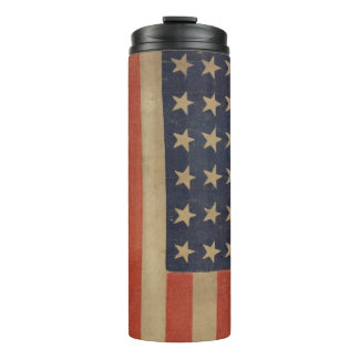 USA Flag Stars Stripes Patriotic Personalize Thermal Tumbler