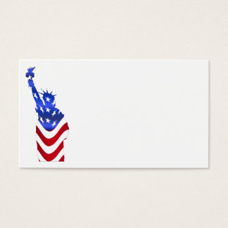 Usa Flag Statue of Liberty Business Cards