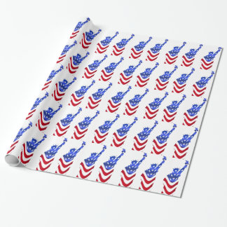 USA Flag Statue of Liberty Wrapping Paper