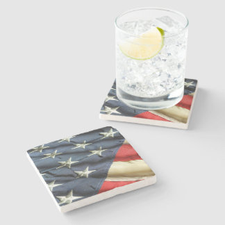 USA Flag Stone Coaster