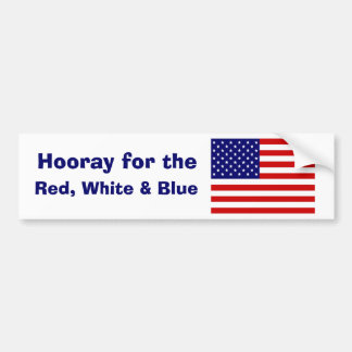 USA flag symbol Car Bumper Sticker