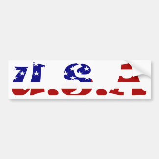 USA Flag Themed Bumper Sticker