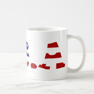 USA Flag Themed Coffee Mug