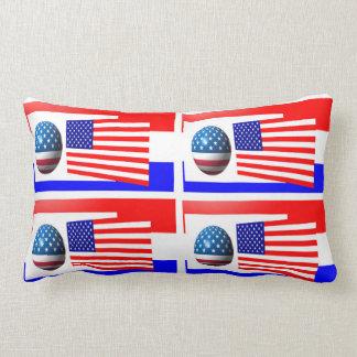 USA FLAG THROW PILLOW, LUMBAR PILLOW