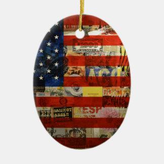Usa Flag United States American Flag America Ceramic Ornament