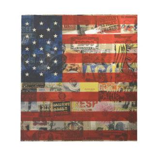 Usa Flag United States American Flag America Notepad