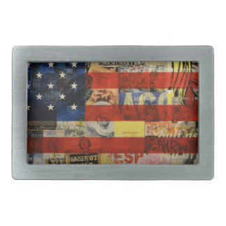 Usa Flag United States American Flag America Rectangular Belt Buckles