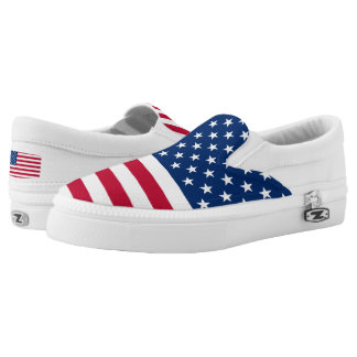 USA Flag United States of America Slip-On Sneakers