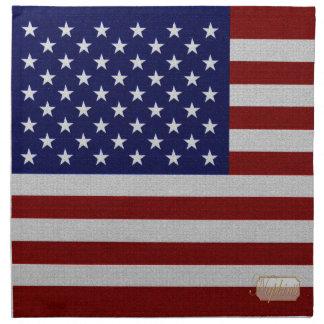 USA Flag Vintage Designed Cloth Napkin