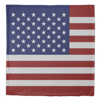 USA Flag Vintage Look American Duvet Cover Set