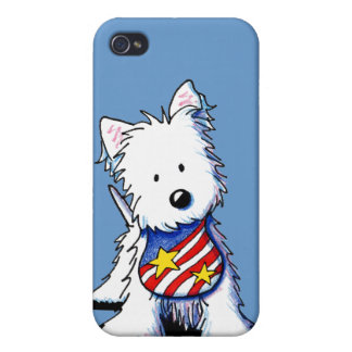 USA Flag Westie iPhone 4 Cover