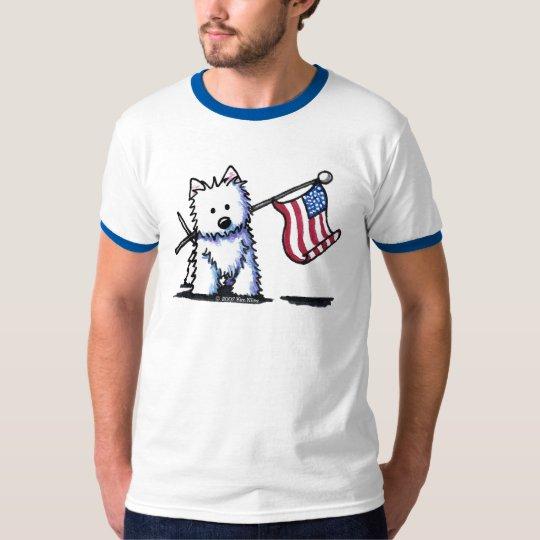 USA Flag Westie T-Shirt