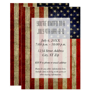 USA Flag with a vintage look Party Card