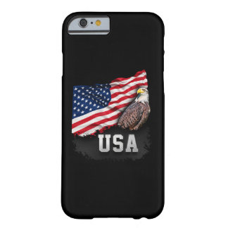 USA Flag with Bald Eagle 4th of July Barely There iPhone 6 Case