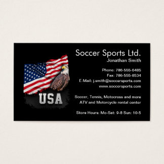 USA Flag with Bald Eagle 4th of July Business Card