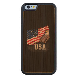 USA Flag with Bald Eagle 4th of July Cherry iPhone 6 Bumper Case