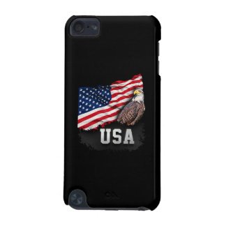 USA Flag with Bald Eagle 4th of July iPod Touch (5th Generation) Case