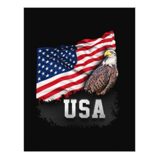 USA Flag with Bald Eagle 4th of July Personalized Flyer