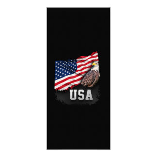 USA Flag with Bald Eagle 4th of July Rack Card