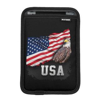USA Flag with Bald Eagle 4th of July Sleeve For iPad Mini