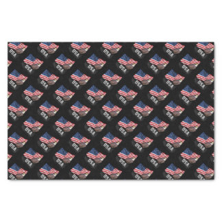 USA Flag with Bald Eagle 4th of July Tissue Paper