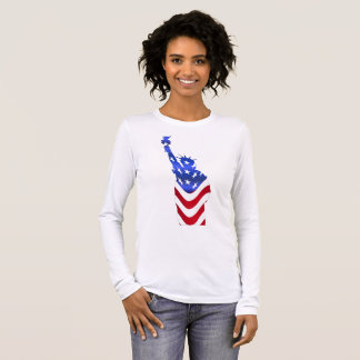 Usa Flag Women's Bella+Canvas Long Sleeve T-Shirt