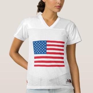 USA Flag Women's Football Jersey