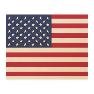 USA Flag WoodCanvas American Unique WoodSnap Print Wood Canvases