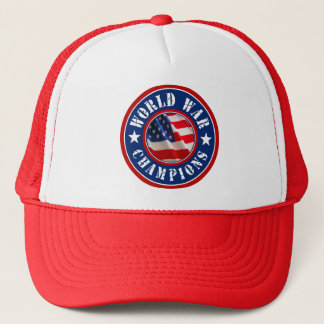 USA Flag World War Champions Trucker Hat