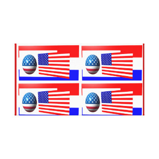 usa flags canvas art