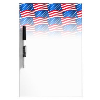 USA flags Dry Erase Board