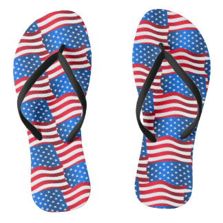 USA flags Flip Flops