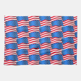 USA flags Kitchen Towel